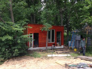 Brenna and Gabriel also finished beautifying the Solar Cabin (shown above).