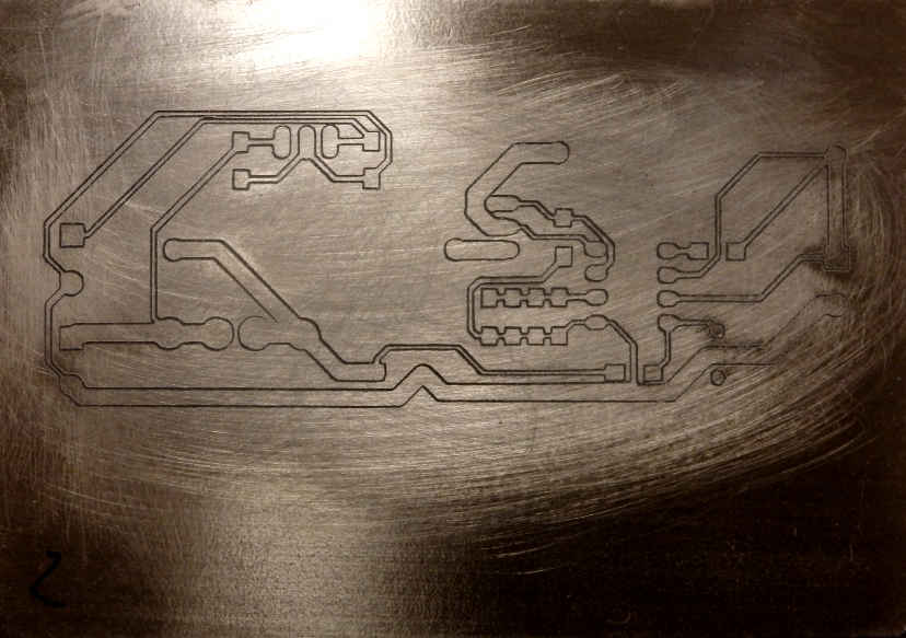 figure: cuts of the circuit mill are < 0 5 mm wide, and circuit paths of  1/2 mm can be obtained reliably